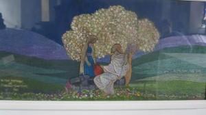Embroidered panel, St. nahi's church